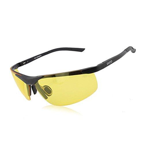 Duco Nachtsichtgläser bei blendenden Scheinwerfern Autofahren Nachtfahrbrille polarisierte Sportbrillen mit gelben Gläsern 8125