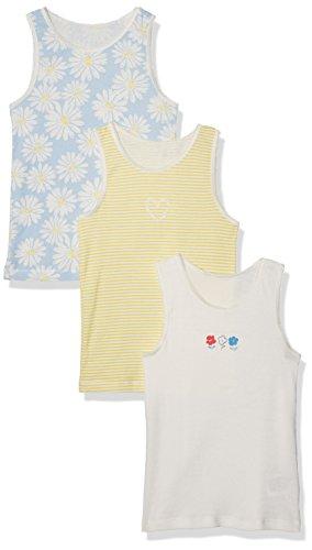 Mothercare Mädchen Unterhemd Floral and Striped-3 Pack, Blau, 1-2 Jahre