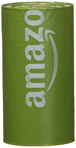AmazonBasics - Bolsa mejorada para heces de perro con aditivos EPI y dispensador y pinza para correa - 270 unidades