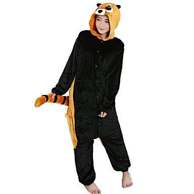 (XYY Pyjamas Waschbär Gymnastikanzug/Fest/Feiertage Tiernachtwäsche Halloween Schwarz Tiermuster Druck Cosplay Kostüme Für, Black, s)