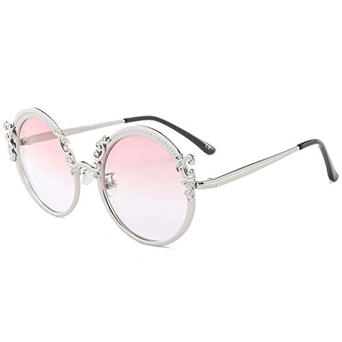 Thirteen Runde Retro-Sonnenbrille Weibliche Anti-UV-Brille, Kann Verwendet Werden, Um Fahrreisen, Geeignet Für Eine Vielzahl Von Gesichtstypen Zu Schmücken. (Color : F)