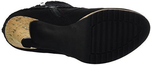 Marco Tozzi25302 - Stivali classici imbottiti a gamba corta Donna Nero (Black Comb 098)