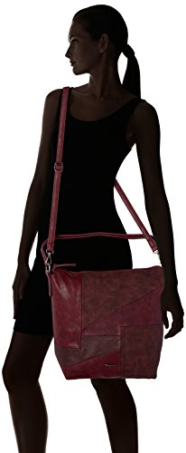Tamaris - Bimba Hobo Bag, Borse a spalla Donna Rosso (Vino Comb)