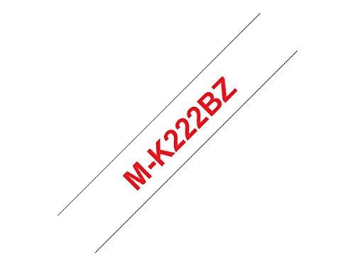 Brother MK222BZ Schriftbandkassetten weis rot 8mx9mm nicht laminiert für P-touch 60 65 75 80 85 110