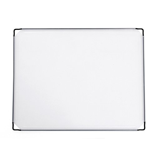 SONGMICS 8 Stück PP Platte Kunststoffplatte für DIY Steckregalsystem halbtransparent weiß 45 x 35 cm ALPC03-8