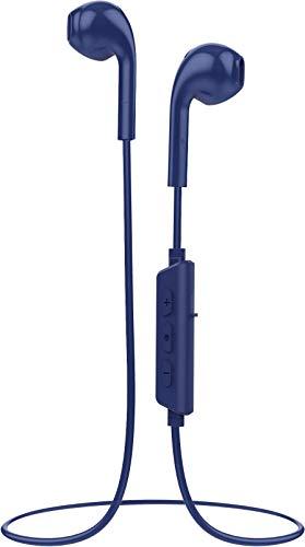Vivanco 38921 Auriculares Bluetooth Inalámbricos Deportivos, Manos Libres, 6 Horas De Batería, Azul