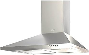 Elica 60 cm 875 m3/hr Chimney (PYRAMID CF 60, 2 Cassette Filters, Steel/Grey)