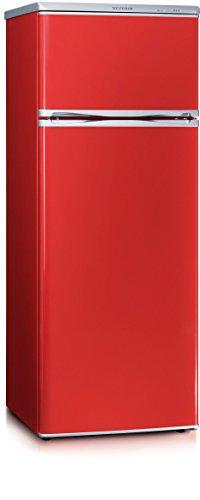 Severin Doppeltür-Kühl-/Gefrierschrank, 166 L/46 L, Energieeffizienzklasse A++, KS 9795, Rot