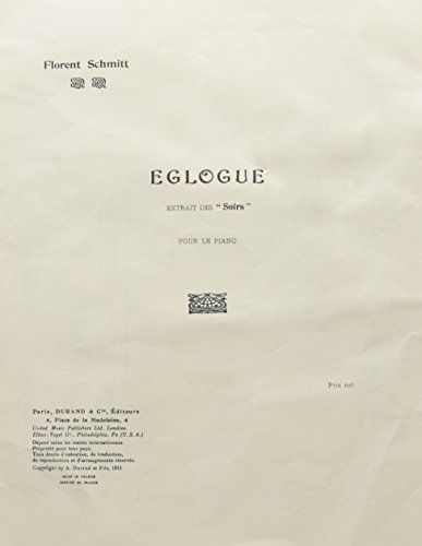 Eglogue Piano