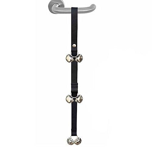 GOOTRADES Türglocke Türklingel Für Hunde Training mit 6 Glocken - 96x2,5cm - Schwarz