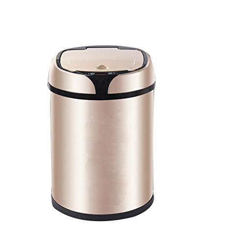 Zlw-shop Secchi per la spazzatura Smart Sensor Trash Can Automatico Bagno Camera da Letto Cucina Soggiorno Cestino 8L