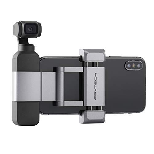 Schnellbefestigungshalterung ,routinfly für DJI OSMO Pocket Phone Holder Adapter (Silber, 1pcs) Classic 5g Video
