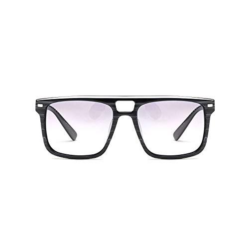 LKVNHP Acetat Retro Quadrat Polarisierte Sonnenbrille Männer Markendesigner Vintage Sonnenbrille Frauen Fahren Sonnenbrille Männlichen Uv400 ShadesSchwarz Gestreift