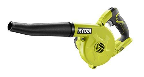 Ryobi R18RB-0 Akku-Gebläse 18V R18RB-0, geeignet für Sägemehl, Holz-/Metallspäne, 3-Stufen Geschwindigkeitseinstellung, mit hochwertigem Gummischlauch, GripZoneTM, ONE+