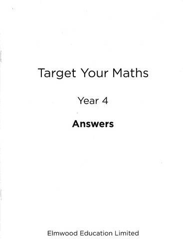 Target Your Maths Year 4 Answer Book: Year 4