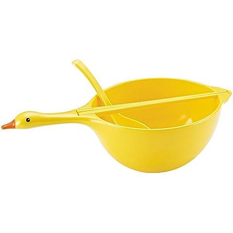 Swan ciotola bacchette cucchiaio set Creative Anti–Maniglia Noodle Riso, Porcellana 5 L Silver