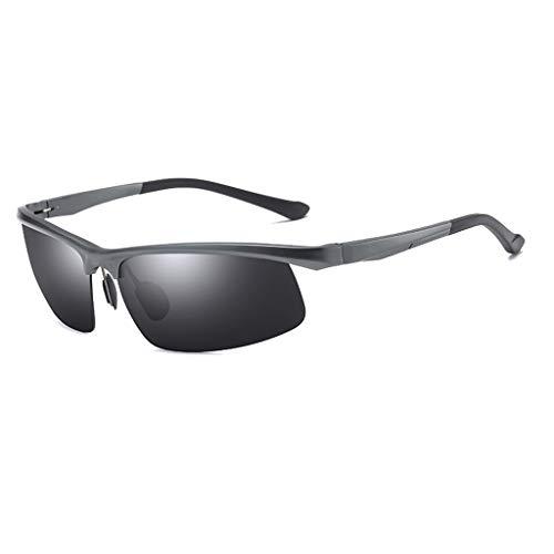 Jinxiaobei Herren Sonnenbrillen Polarisierte Sonnenbrille Polarisierte UV400 Sport-Sonnenbrille Anti-Fog Ideal zum Fahren oder for sportliche Aktivitäten. Superleichtes Rahmendesign (Color : Gray)