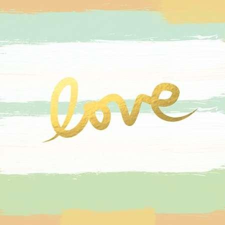 feelingathome-Impresi—n-artistica-Amour-Stripes---Monnaie-d'or-cm57x57-poster-l...