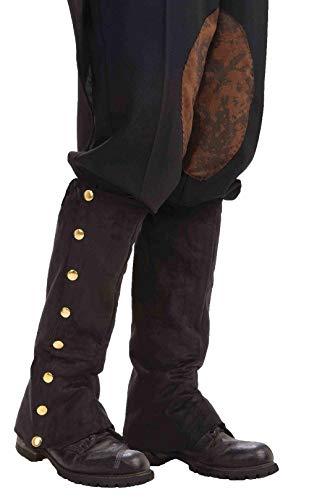 Steampunk Spats (Black) Fancy (Sci Fi Fancy Dress Kostüm)