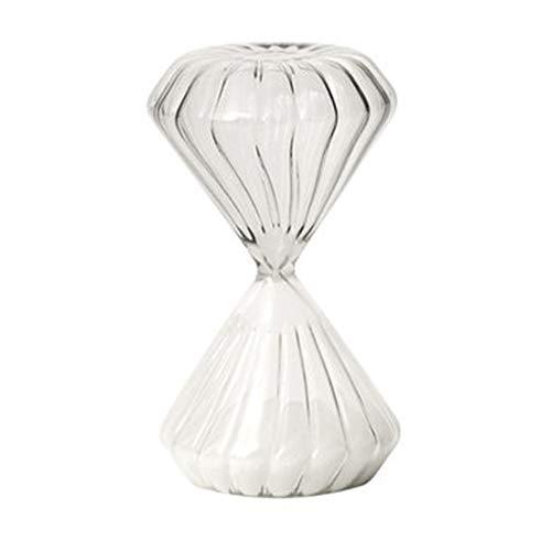 QAC Sanduhr, Hochwertiges Zeitmanagement-Tool Kreatives Geburtstagsgeschenk Sanduhr ZubehöR Geeignet FüR Zuhause 11cm * 6cm Weiß