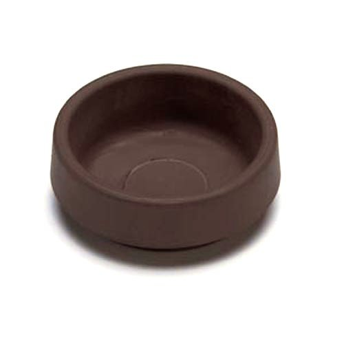 Merriway� BH01561 Non-Slip Rubber Castor Cups for Wood Hard Floors, Outer Dia.70mm (2.3/4 inch) - Large, Brown, Pack of 4