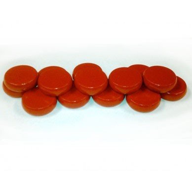 Red Wooden Crokinole Discs - Set of 14 by Mayday Games