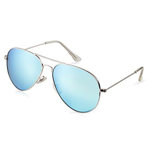 Cool-Shop -  Occhiali da sole  - Donna blu Silver-Blue