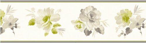 Fine Decor - Lámina decorativa (173 mm), diseño floral, color verde