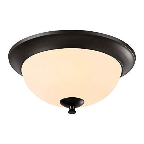 IACON Retro Rund Deckenlampe LED Warmweiß Antik Metall Deckenleuchte industrie Küche Decken Beleuchtung Lampe Glas Esszimmerlampe Wohnzimmer Schlafzimmer Vintage Leuchtmittel bad lampe Landhaus Flur