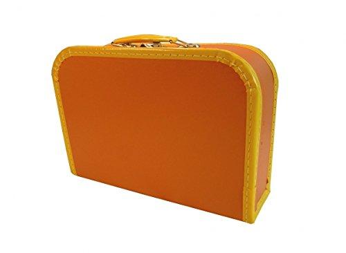 Kinderkoffer orange 30cm Pappkoffer mit Trim