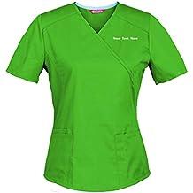 TAILORS Personalizado Personalizable Bordado Blusa médica de Mujer/Uniformes Médicos Enfermera Ddentistas