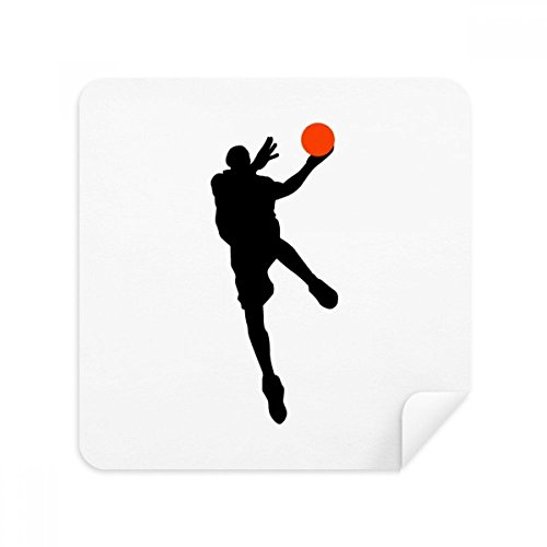 DIYthinker Sport Springen Basketball-Spieler-Glas-Putztuch Telefon Screen Cleaner Suede Fabric 2Pcs
