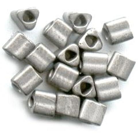Triangoli Toho 11/0 TG566 - Antique Silver Metallic Frosted