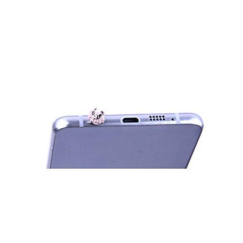 "Samsung Galaxy S6 Edge Hülle, Alfort 3 in 1 3D Handyhülle Schutzhülle PC Hart Case Cover Telefon Kasten für Samsung Galaxy S6 Edge 5.1"" Smartphone mit Anchors ( Farbe ) + Netter Kristall Staub Stecker Note"