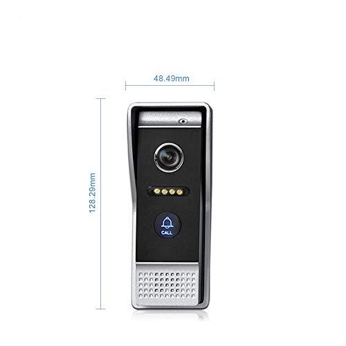 NA Home Türsprechanlage/Türsprechanlage mit WiFi, 17,8 cm (7 Zoll), drahtlos, Türklingel, Lautsprecher, Zugangskontrolle, Touchscreen, Bewegungserkennung, 2 Türen bis 4
