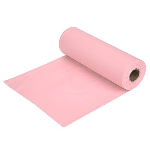 SCEMARK 100ft/30m Tischdecke Kunststoff Bankett Rolle Party Catering Tischdecke Tuch Geschirr (Kunststoff-tischdecke Rolle Pink)
