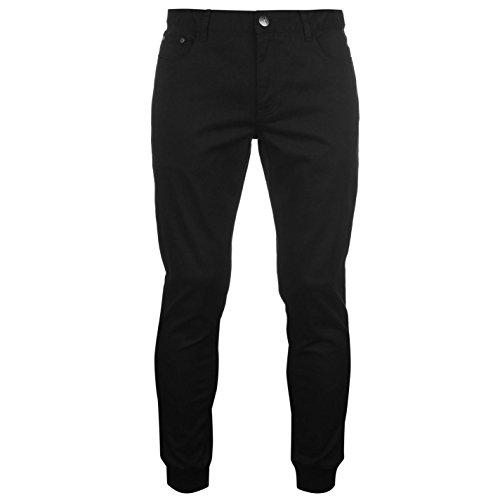 airwalk-hombre-cuffed-skinny-woven-vaquero-pantalones-ropa-vestir-casual-cuffed-black-30w-r