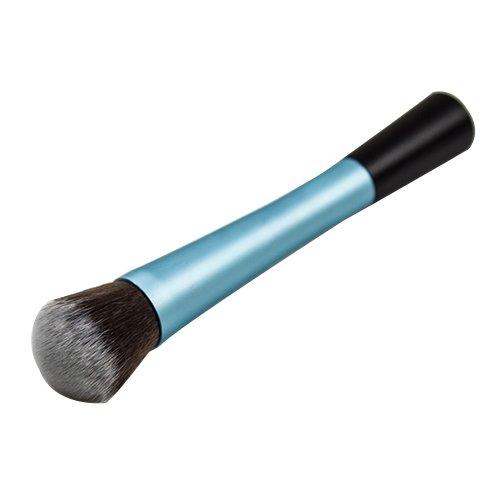 Blush Poudre Cosmétique Pointillé Pinceau Fond De Teint Outil De Maquillage Bleu Modèle1052