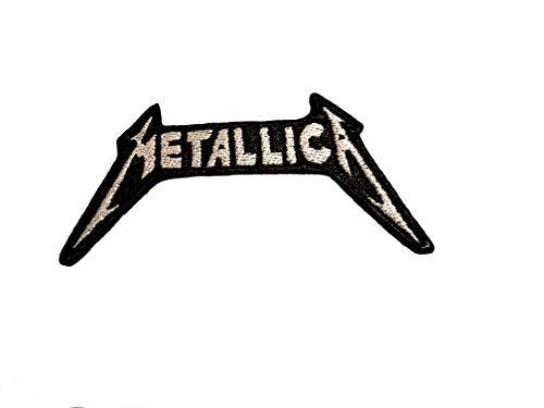 Emporium Embroidery Metallica-Aufnäher, Amerikanische Heavy Metal Band, bestickter Flicken zum Aufbügeln oder Aufnähen, Weiß, Nr. 115
