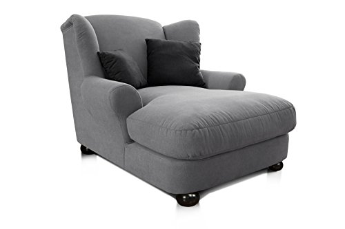 Cavadore 2271686 XXL-Sessel Love Seats  grau