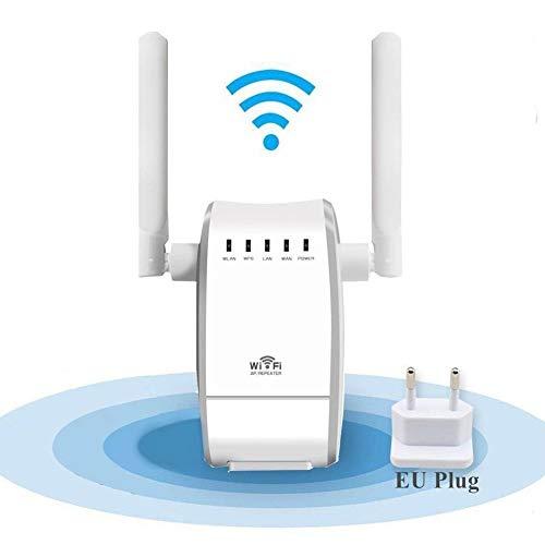 AWINLI WLAN Router WiFi Repeater Wireless N Range Extender Mini Ap Router Signal Booster Mini AP Router Netzwerk Dual Externe Antenne 300 Mbps Mit WPS