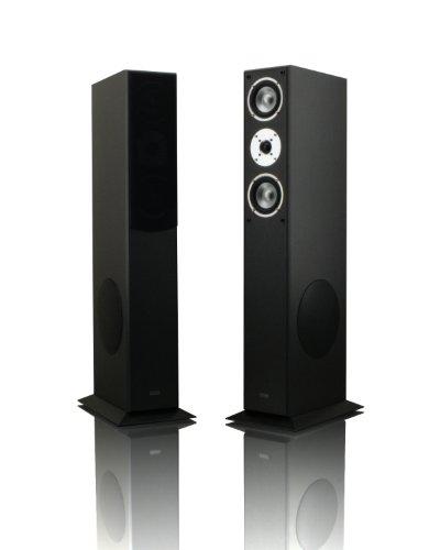 1 Paar Standlautsprecher Mohr SL15 schwarz Lautsprecherboxen, HiFi Klang zum günstigen Preis, elegante HiFi Standboxen aus Holz, als Stereolautsprecher oder Heimkinolautsprecher geeignet