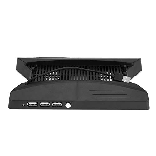 Preisvergleich Produktbild Vertikaler Ständer Typ Spiel-Disc-Speicherhalter USB-Ladestation für PS4 PRO