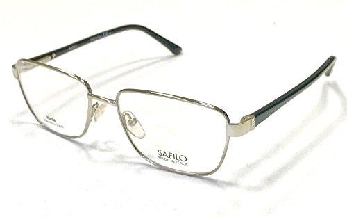 Safilo - SA 6000, Rechteckig, Acetat/Metall, Damenbrillen, LIGHT GOLD BLACK(EEI), 53/16/135
