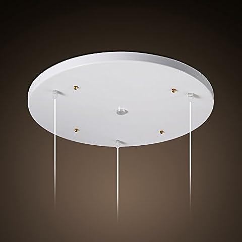 3 Testa rotonda a soffitto 3 Vassoio rettangolare massimale di testa accessorio Vassoio Chelier Combo portalampada accessori per illuminazione