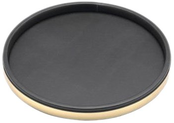 Kraftware 50130 Sophisticates Schwarz mit geb-rstetem Messing Deluxe 14 Zoll Tray (Zoll Tray 14 Deluxe)