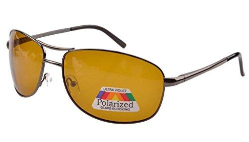 Eyekepper Pilot federn-Scharnier polarisierte Linse Tag/Nacht Sicht Fahren Sonnenbrille