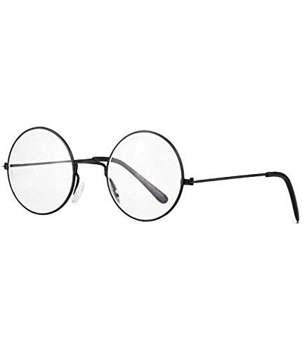 caripe runde Sonnenbrille Brille Lennon (schwarz - klare Gläser)