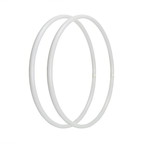 JEWADO® Arm Hula Hoop Reifen in verschiedenen Farben, 2 teiliges Set, HDPE-16mm, Ø 50cm in Weiss