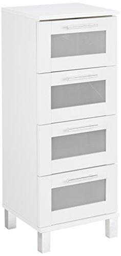 #trendteam smart living Badezimmer Schrank Kommode Florida, 35 x 89 x 33 cm in Weiß mit Schubkästen und viel Stauraum#